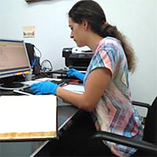 Elena Ceron, voluntaria de Grado en Historia en Agosto de 2018