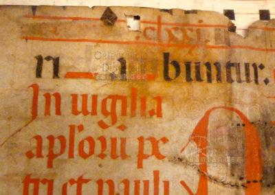 Texto de Gradual del S.XVI para la  festividad de San Pedro y San Pablo